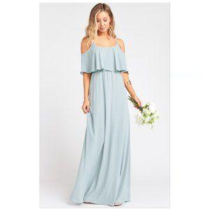 SHOW ME YOUR MUMU Caitlin Ruffle Maxi Dress size L